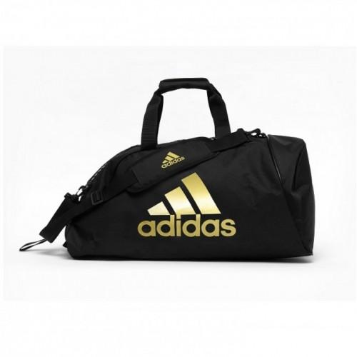 adidas Training Sporttas Polyester 2 in 1 Zwart/Goud