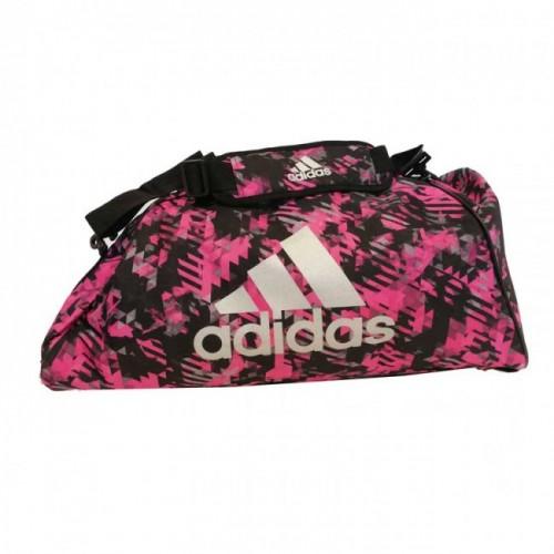 Sac de sport adidas Polyester 2 en 1 rose camouflage / argent