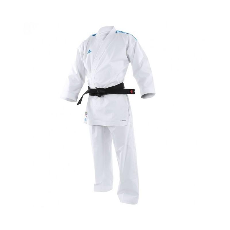 kimono karaté Adidas  Adilight Blanc / Bleu