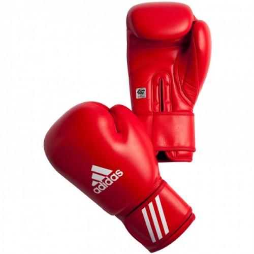 Gants de boxe adidas AIBA bleu et rouge