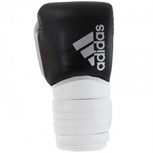 Gants de boxe adidas Hybrid 300 (Kick) Noir / Blanc / Argent
