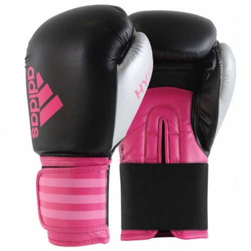 Gants de boxe adidas Hybrid 100 Dynamic Fit (Kick) Noir / Rose