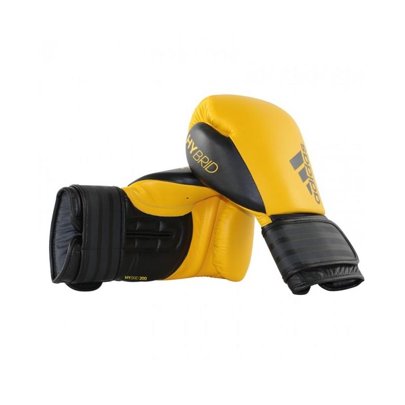 Gants de boxe adidas Hybrid 200 (Kick) Jaune / Noir