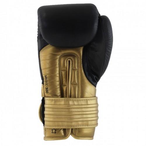 Gants de boxe adidas Hybrid 300 (Kick) Noir / Or / Argent