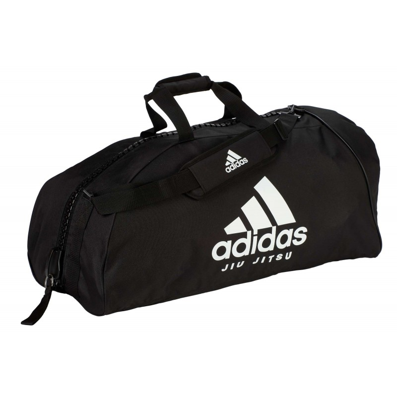 "sac de sport adidas ""Jiu-Jitsu"" nylon noir / blanc"