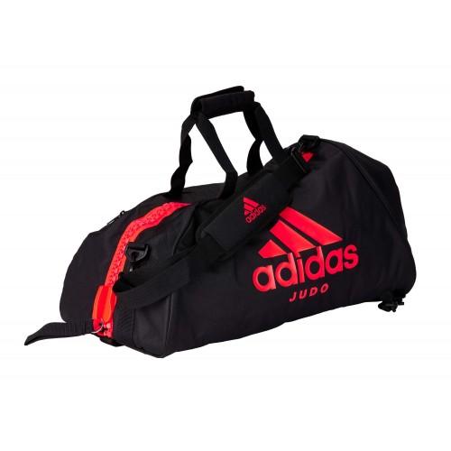 Sac Adidas 2in1 Bag « Judo » black/solar red Nylon