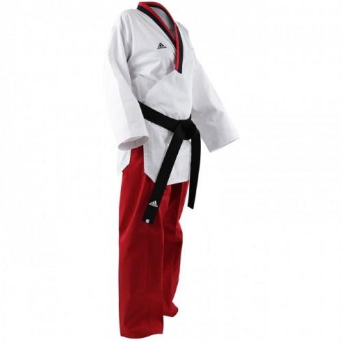 Adidas Poomsae Taekwondo Filles Blanc/Rouge