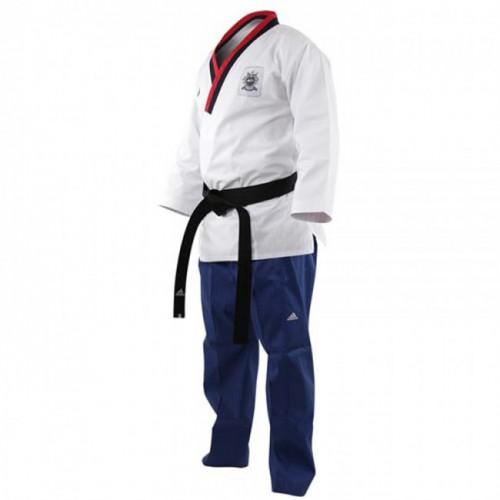 Adidas Poomsae Taekwondo Suit Garçon Blanc/Bleu Clair