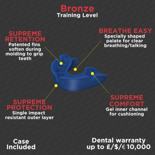 Protège-dents adidas OPRO Gen4 Bronze-Edition Noir/Bleu/Blanc