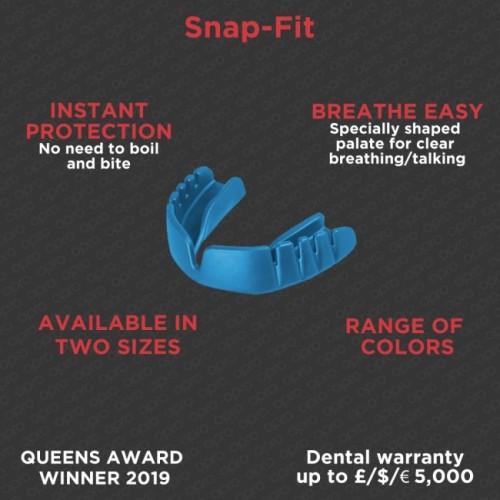 Protège-dents adidas OPRO Gen4 Snap-Fit Noir/Bleu/Blanc
