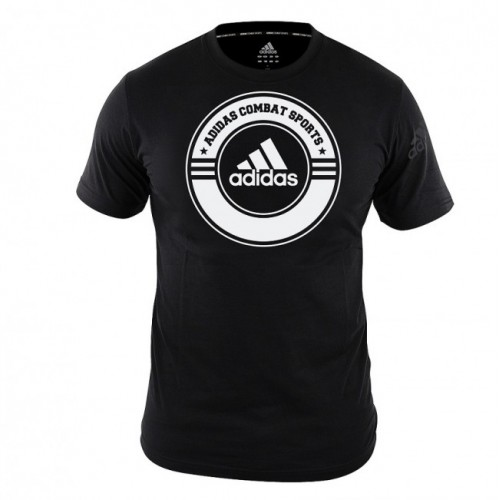 adidas T-Shirt Combat Sports Noir/Blanc