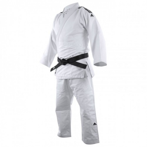 Kimono judo J650 blanc bandes noir