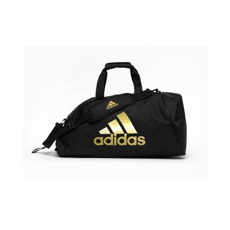 Sac de sport adidas Polyester 2 en 1 Noir / Or