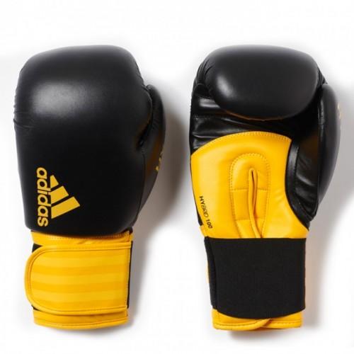 Gants de boxe adidas Hybrid 100 (Kick) Noir / Jaune