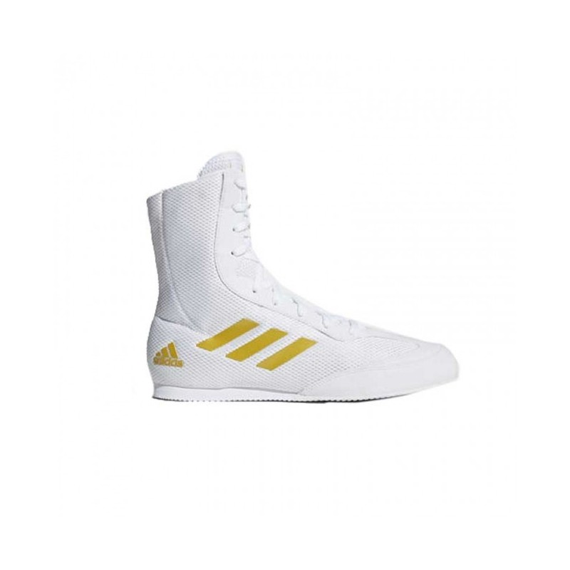 Chaussures de boxe adidas Box-Hog Plus - Blanc / Or