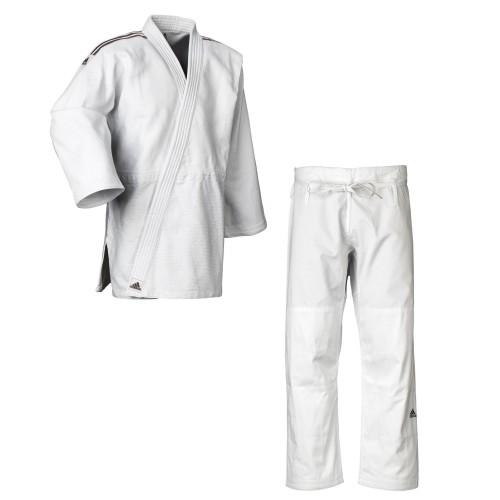 """Tenue de judo Adidas """"Contest"""" aux bandes blanches/noires, J650"""